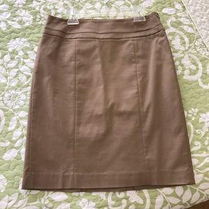ANN TAYLOR LOFT Latte Brown Pencil Skirt